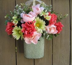 Spring Wreath Mothers Day Wreath Easter Decor by AWorkofHeartSA