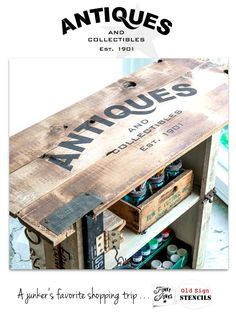 ANTIQUES | Funky Junk's Old Sign Stencils