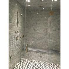 Talon Carrara & Bardiglio Marble Tile - Carrara - Marble by Type