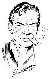 John McLusky's rendition of James Bond.