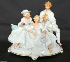 German Art Deco SCHAUBACH KUNST Wallendorf Group Courting Porcelain Figurine