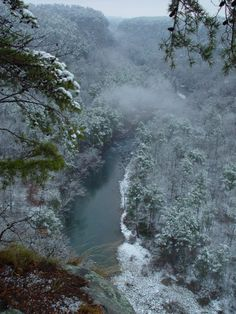 Snowy day, Little River Canyon near Fort Payne, AL