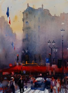 Watercolor Painting by Alvaro Castagnet