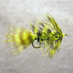chartreuse grizzly bugger fishing lure