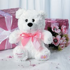 Plush Flower Girl Bear - TerrysVillage.com