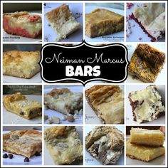 Neiman Marcus Bars...such an easy method to make a multitude of yummy bars!