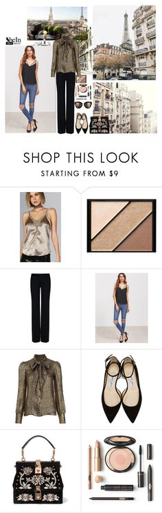 """♥"" by polyvorecool-i ❤ liked on Polyvore featuring Elizabeth Arden, STELLA McCARTNEY, Yves Saint Laurent, Jimmy Choo and Dolce&Gabbana"