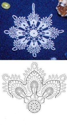 Crochet Snowflake Pattern, Crochet Stars, Crochet Snowflakes, Thread Crochet, Crochet Flowers, Crochet Crafts, Crochet Projects, Crochet Christmas Ornaments, Christmas Crochet Patterns