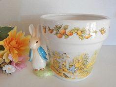 Planter Beatrix Potter Pot Peter Rabbit Story Book by Holiday365