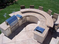 BBQ with horseshoe seating