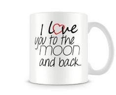 Valentines Mugs, I Love You, My Love, Cheap Gifts, Moon, Prints, Ebay, Tumblers, Cheap Presents