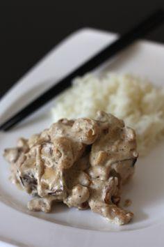 Tofu fumé aux champignons, noix de cajou et crème de soja