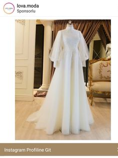 Fancy Wedding Dresses, Prom Dresses Long With Sleeves, Modest Dresses, Stylish Dresses, Simple Dresses, Fashion Dresses, Muslim Wedding Gown, Muslimah Wedding Dress, Hijab Evening Dress
