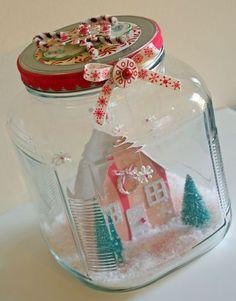 Lovely winter scene in a jar!