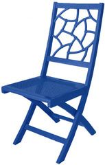 @SocietySocial Fifi Folding Chair. Frolic-Inducing #Foldingchairs for Impromptu fetes! She's bold, colorful, and a sassy solution for spontaneous socials and big city, #smallSpaces living! #color #chairs #painted furniture