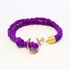 Nautical Double Twist Anchor Bracelet Purple Get fundraising help with Make A Wishlet where $10 from every product sold is donated to the associated cause!  COMPASSIONATE. HELPFUL. CONVENIENT.  Our mission is to help people realize their wishes...especially during difficult times!
