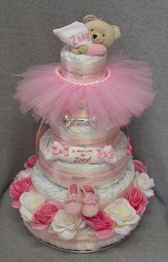 Girl Diaper Cake #timelesstreasure
