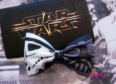 Star Wars Hair bow or Bow tie Starwars Darth Vader and Storm Trooper Scifi Geeky fun fabric bow Theme Star Wars, Star Wars Wedding, Star Wars Outfits, Dapper Day, Star Wars Birthday, Fabric Bows, Up Girl, Hair Bows, Headbands