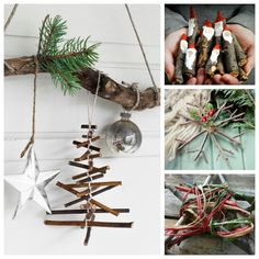 popsicle stick and twigs christmas tree ornaments twig crafts for 8137