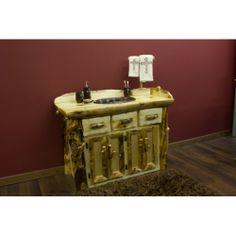 Signature Log Bath Vanity www.signaturelogfurniture.com
