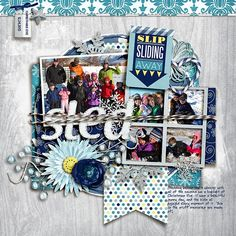 Layered Cards: Winter 2 by Cindy Schneider Snowflakes by Lliella Designs Twine by Just Jaime DJB Journal by Darcy Baldwin