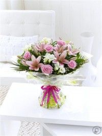 Happy Birthday Spring Rose , Lily and Freesia Hand tied with Happy Birthday Balloon Easter Flowers, Valentines Flowers, Mothers Day Flowers, Christmas Flowers, Spring Flowers, Best Flower Delivery, Flower Delivery Service, Online Flower Delivery, Rose Lily