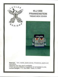 FRANKENSTEIN TISSUE BOX COVER 1/3