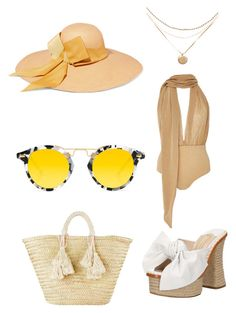 """""""Untitled #138"""" by donia-tanase on Polyvore featuring Água de Coco, Paloma Barceló, Giselle, Krewe and Sensi Studio"""
