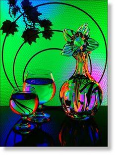 .99 Glasses, 2.00 veneer, $.20 Leaves..FREE lighting... Priceless.