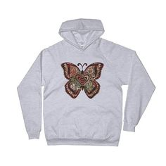 Unisex Fleece Hoodie | Watercolor Butterfly | Autumn colors | Butterfly
