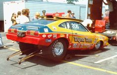 Vintage Drag Racing - Pro Stock - Dyno Don Mustang...Whoever pinned this had it listed as a Pinto....