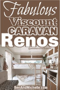 Viscount caravans bring back childhood memories for so many Australians, and these Viscount caravan renovations bring them all back to life. Best Caravan, Diy Caravan, Caravan Decor, Retro Caravan, Small Caravans, Vintage Caravans, Vintage Campers, Motorhome Interior, Amigurumi