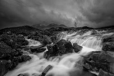 Sligachan- Isle of Skaye- black and white landscape photography by Sergio Sberna.