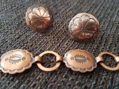 Vintage Copper Jewelry Set Bracelet by TheVintagePrincipal on Etsy