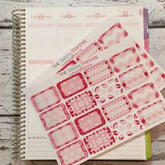 NEW! February Monthly Write-On Half Box Stickers for Erin Condren Life Planner/Plum Paper Planner - Set of 32