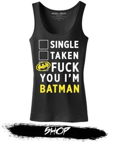 Women's Batman Tank Top from RebelCircus Cool Shirts, Funny Shirts, Men's Shirts, Batman Love, Batman Stuff, Nananana Batman, Batman Outfits, Batman Dress, Batman Shoes