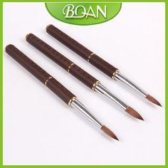 Retail 1 Pcs Nail Tool 10# Nail Acrylic Brush Pure Kolinsky Professional Leather Handle Painting Brush Nail Free shipping $11.99