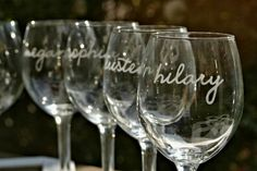 Wedding Toasting Glasses,Bridesmaid Gifts,Personalized Wine Glasses,Custom Etched Wedding Party Favors,Bridal Shower Decor,Bachelorette