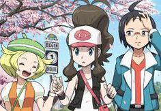 Pokemon White - Hilda (Touko) with Bianca & Cheren