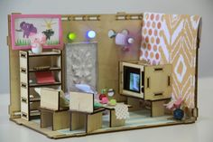 Roominate: A new toy, marketed to girls, where they learn about construction and circuitry by building their own dollhouse. How cool is this? I think I want one for Christmas!