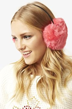 Pink Heart Ear Muffs