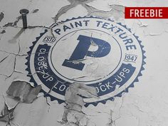 Freebie Old Paint Close-up Logo Mock-up by DesignSomething