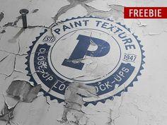 Freebie Old Paint Close-up Logo Mock-up by DesignSomething