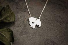 Maltesische Halsband Schnitt kleine Sterling von JustPlainSimple