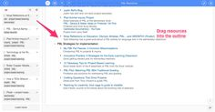 Free Technology for Teachers: Organizing Research with Diigo Outliner