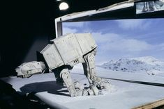 Find out more about AT-ATs, the All Terrain Armored Transport vehicles found on Hoth in Star Wars: The Empire Strikes Back. Star Wars Models, Episode Iv, Star Wars Pictures, Star War 3, The Empire Strikes Back, Scene Photo, Star Wars Episodes, Star Wars Art, Star Trek