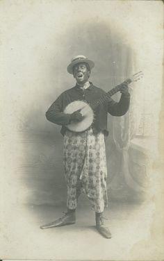 European minstrel banjo boy