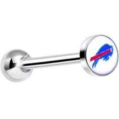 Officially Licensed NFL Buffalo Bills Barbell Tongue Ring | Body Candy Body Jewelry