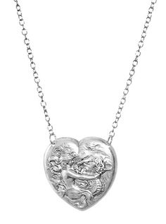 Seahorse and the Siren Heart Necklace at PLASTICLAND