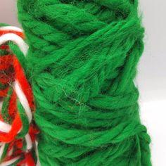 Acrylic Yarn Twist Gift Tye Christmas Holiday Green Red White Yards Craft #Unbranded #Christmas